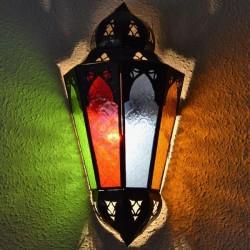 Andalusischen Wandleuchte aus Kristall und durchbrochene Eisen