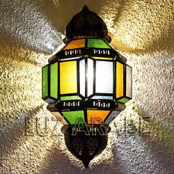 Arabian sconce of crystal and openwork iron
