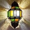 Arabische Wandleuchte aus Kristall und durchbrochene Eisen