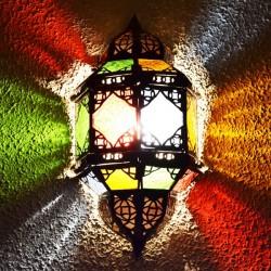 Aplique andalusí de cristal y forja calada
