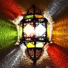 Andalusian sconce of crystal and openwork iron
