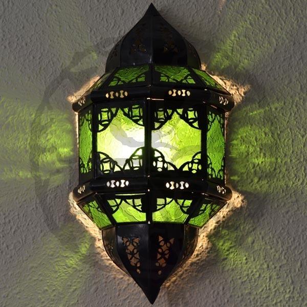 Aplique andaluz de cristal e perfurada ferro luz arabe - Apliques arabes ...