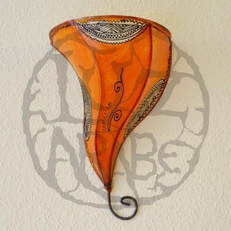 Compra aplique de piel pintado a mano de forma orqu dea de 36 cm - Apliques arabes ...