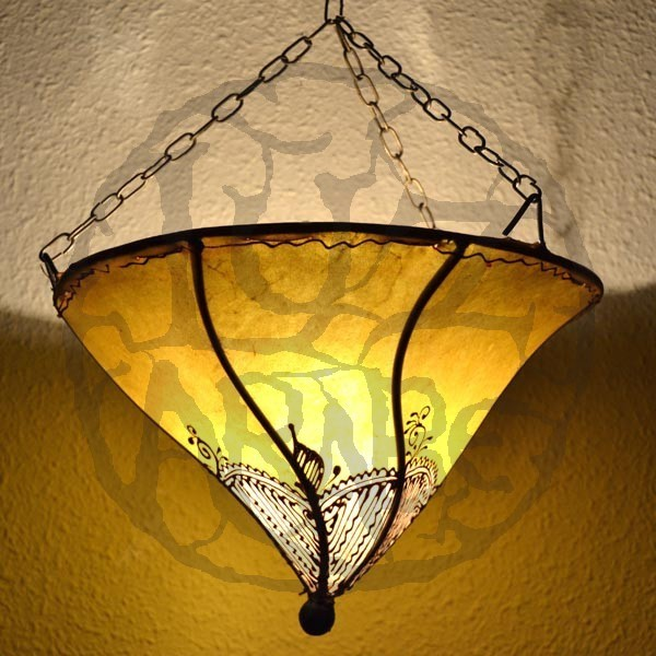 Ceiling Lamp Shades At Next: Buy Hand-painted Leather Ceiling Lamp Lily Shape Of 30 X 30 Cm