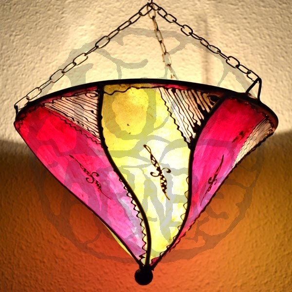 Ceiling Lamp Shades From Next: Buy Hand-painted Leather Ceiling Lamp Lily Shape Of 30 X 30 Cm