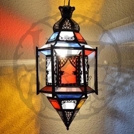 Lampe plafonnier hexagonale andalou avec bars