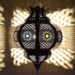 Pomegranate shape ceiling lamp of openwork iron