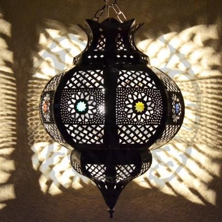 Lámpara árabe forma Granada de de forja