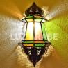 Grand applique marocaine de verre coloré