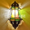 Large moroccan wall light of colored glass
