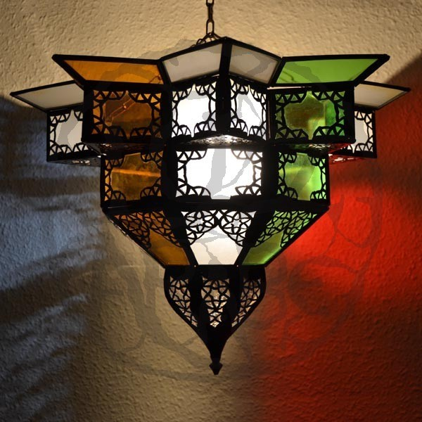 Buy Andalusian Ceiling Light Shade Of Colores Glass 43 Cm