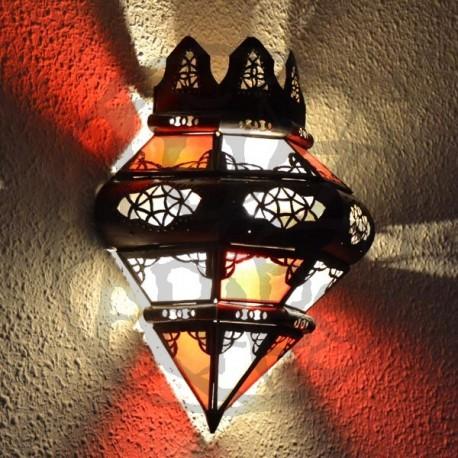 Applique corona con archi di cristallo di ferro traforato