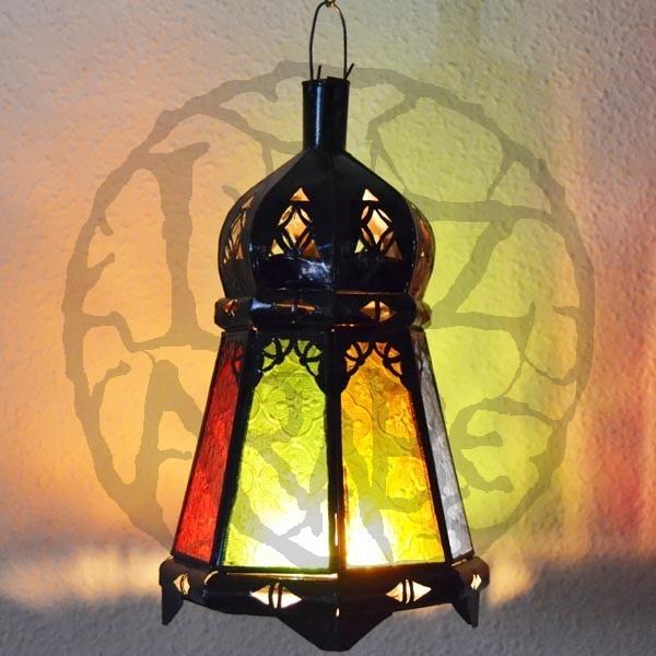 Acheter lanterne bougie forme octogonale avec d me en - Lanterne avec bougie exterieur ...