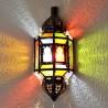 Aplique de parede andaluz de cristal com arcos e barras