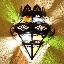Applique marocaine de couronne de verre coloré