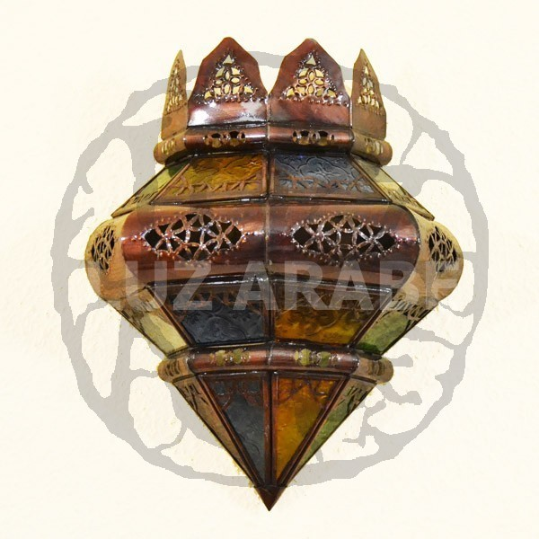 Moroccan Glass Wall Lights : buy Crown shape moroccan wall light of colorful glass 37 cm