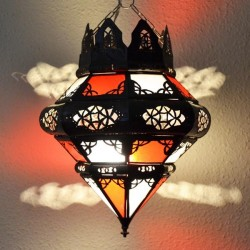 Lámpara corona árabe forma bellota