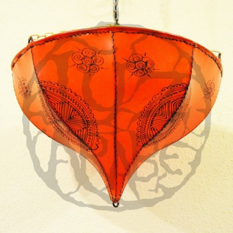 Tulip from painted leather ceiling lamp