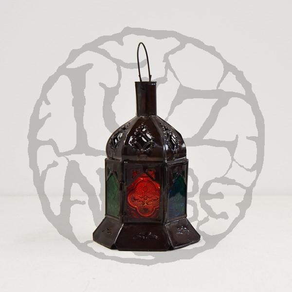 Kaufen sechseckige kerze laterne aus farbigem glas und for Laterne aus glas