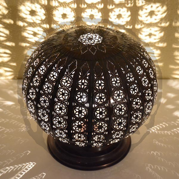 Buy Sphere Shape Moroccan Lamp Of Pierced Bronzed Iron 35
