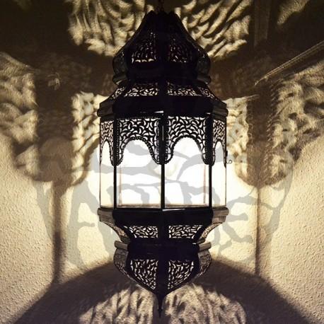 Lampara grande andalusí octagonal con arcos