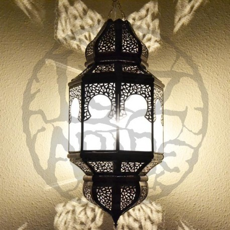 Grande lampe plafonnier octogonale andalou avec arcs