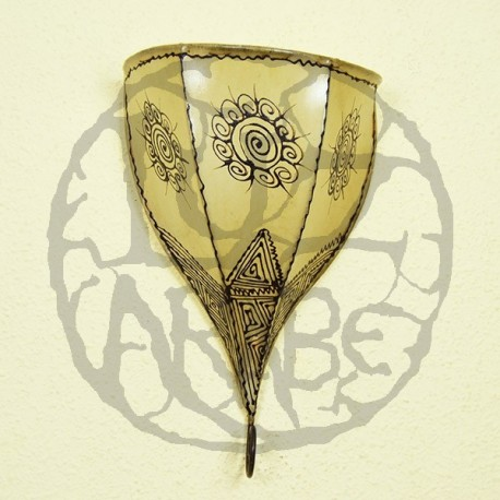 Buy Hand Painted Leather Tulip From Sconce Of 36 Cm