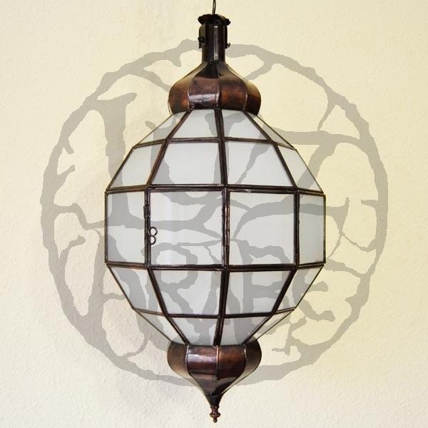 lampadario a sfera : Acquista Lampadario a forma di sfera di ferro bronzato e vetro opaco ...