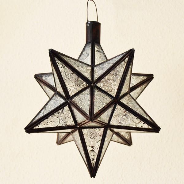 Acheter La Lampe Etoile De 12 Angles De Verre Translucide Et