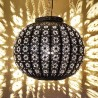 Sphere shape ceiling lamp of openwork iron