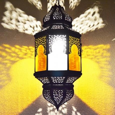 Lampadario grande andaluso ottagonale bicolor con archi