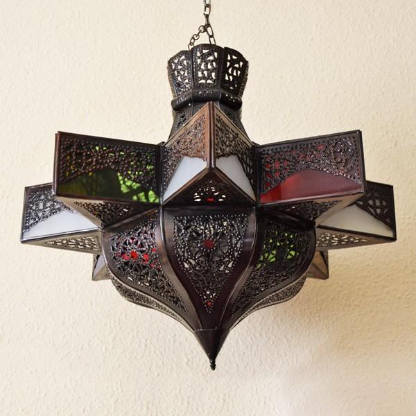 Lampadari > Grandi Lampadari Etnici > Lampadario stella ottagonale ...