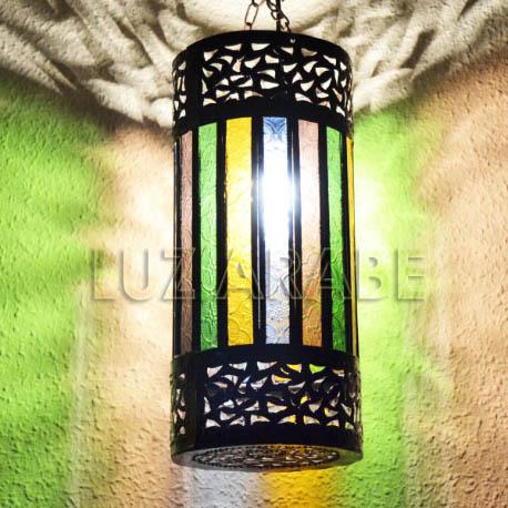 Lampara árabe forma cilindro