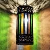 Lampe plafonnier arabe en forme cylindre