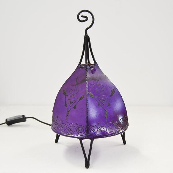 Acquista Lampadario forma a tenda in pelle dipinta con l ...