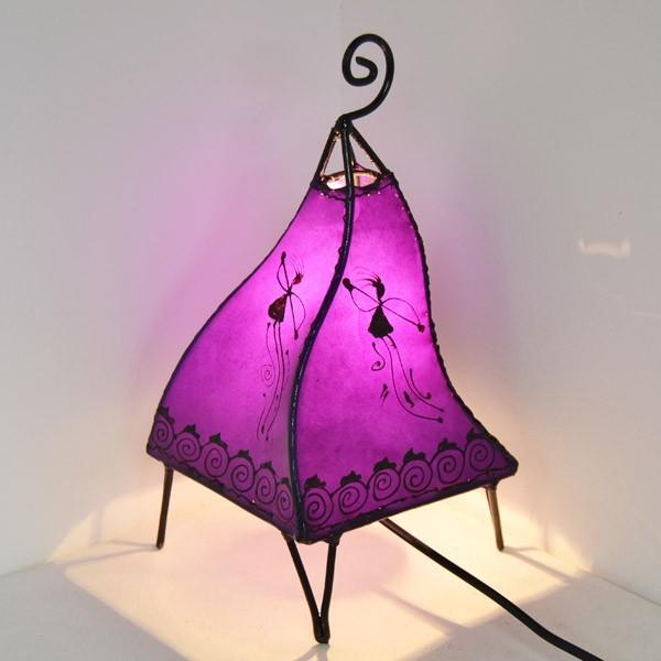 Acquista lampadario forma a pavone in pelle dipinta con l for Lampadario da tavolo