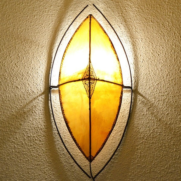 Buy Hand Painted Leather Sconce Of African Style With Zulu