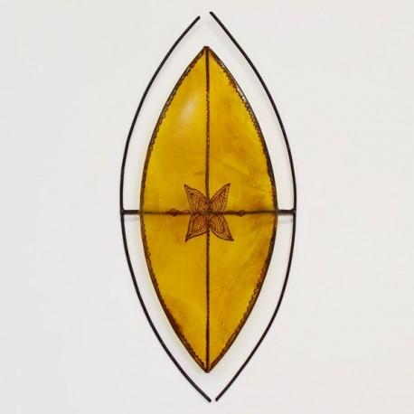 Afrikanischen stil wandleuchte der Zulu Schildform aus leder