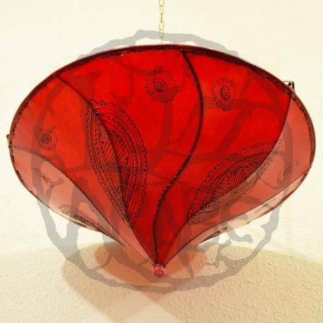Plafonnier en forme de lys rouge