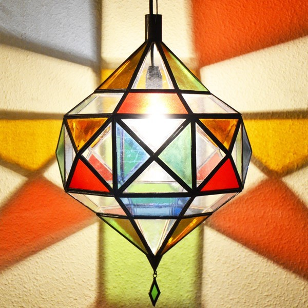 Buy Picasso Diamond Ceiling Lamp Of Colored Glass 50 Cm