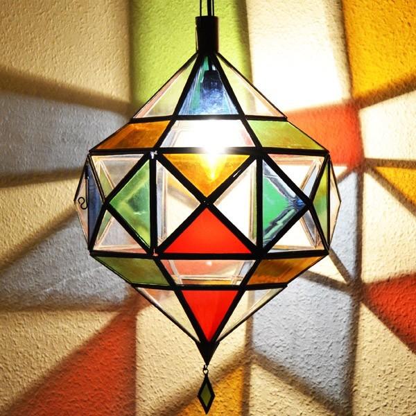 Compre l mpara diamante de picasso de cristal plano - Lamparas de cristal de colores ...