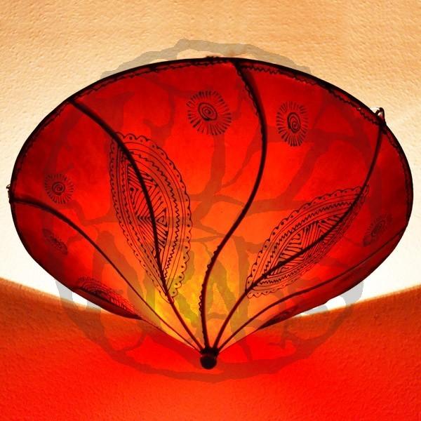 kaufen marokkanische deckenlampe aus leder farbe rote 50 cm. Black Bedroom Furniture Sets. Home Design Ideas