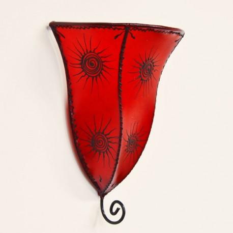 Applique la lotus en cuir peint
