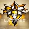 Deckenleuchte schattierung acht-Stern aus weiße mit klaren glas
