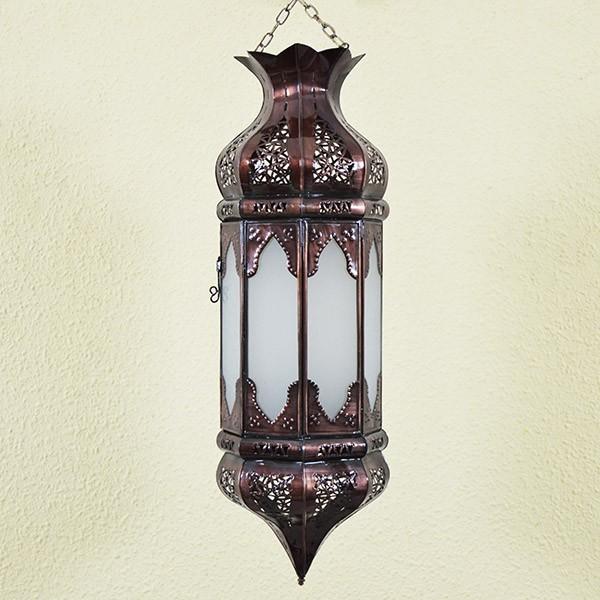 Kaufen achteckige orientalische h ngelampe der wei em glas for Orientalische wandlampen metall