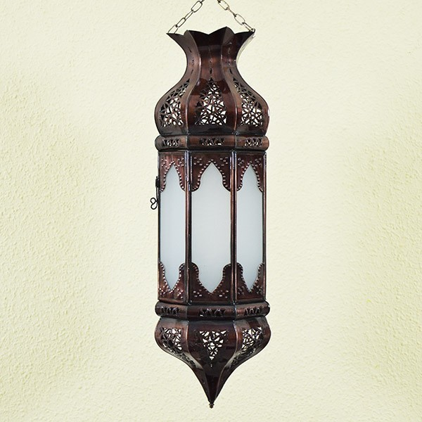 acheter lustre marocain octogonale de verre blanc avec. Black Bedroom Furniture Sets. Home Design Ideas