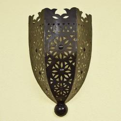 Gran aplique de hierro calado estilo medieval