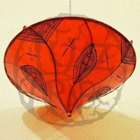 Plafonnier en forme de lys orange