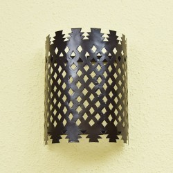 Moroccan wall light of painted pierced metal