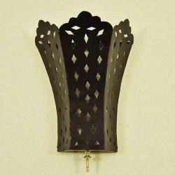Applique da parete giglio di ferro traforato con stelo di rame